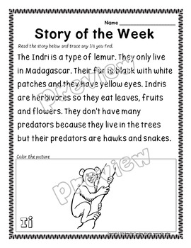 Alphabet Letters A-Z Story of the Week