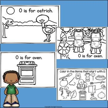 Alphabet Letter of the Week: The Letter O Mini Book