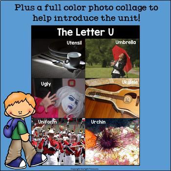 Alphabet Letter of the Week: The Letter U Mini Book