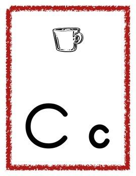 Alphabet Letter posters in Zaner Blozer font