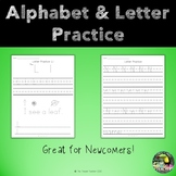 Alphabet & Letter writing practice - newcomer ESL/ELL/EL & young learners