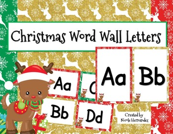 Word Wall Letters - Christmas Themed