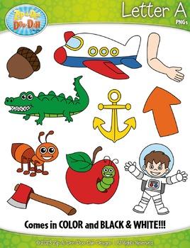 Alphabet Letters A Clipart Set — Includes 20 Graphics!