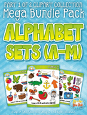 Alphabet Letters A-M Clipart Mega Bundle Pack — Includes 260 Graphics!