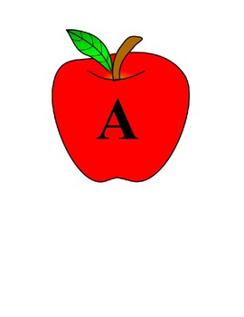 Alphabet Letters A-Z Apple Decor Word Wall, Numbers, Labels, etc