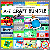 ALPHABET A-Z Crafts BUNDLE Preschool, Pre-K and Kindergarten (Distance Learning)