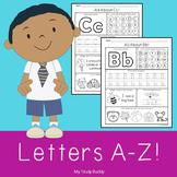 Alphabet Letters A-Z (Kindergarten Alphabet Worksheets, Back to School)