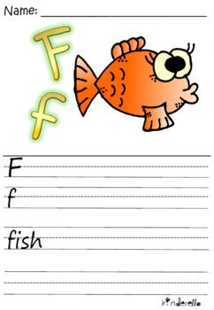 Alphabet Letters A-Z (Kindergarten worksheets)