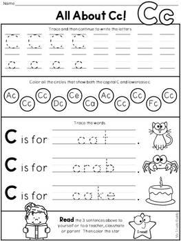 Alphabet Letters A-Z Second Edition (Kindergarten)