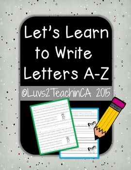 Alphabet Letters A-Z Tracing Worksheets