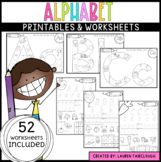 Alphabet Letters A - Z Word Work Worksheets
