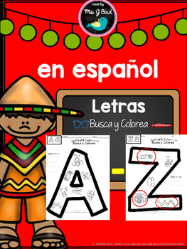 Alphabet Letters A-Z in SPANISH - NO Prep