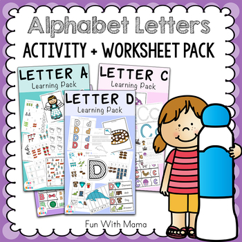 Alphabet Letters A through Z Weekly Activities