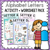 Alphabet Activities For Preschool + for Kindergarten - HUG