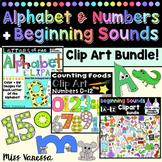 Beginning Sounds Numbers And Alphabet Clip Art Bundle