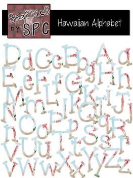 Alphabet Letters Aa-Zz HawaiianFlower {Graphics by SPC}with FREEBIE DigitalPaper