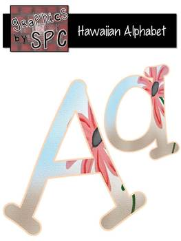 Alphabet Letters Aa-Zz HawaiianFlower {Graphics by SPC}wit