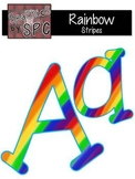 Alphabet Letters Aa-Zz Rainbow Stripes {Graphics by SPC}
