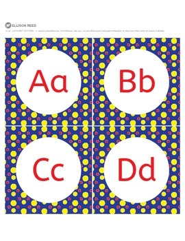 Alphabet Letters - Alphabet Letter Cards - Word Wall - Pri