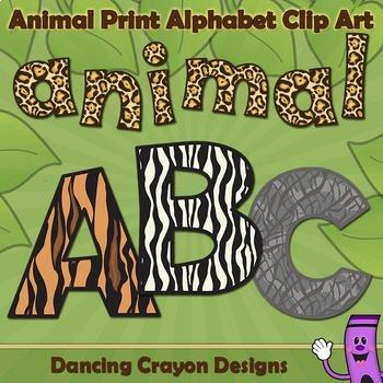 Alphabet Letters: Animal Print Alphabet Clip Art & Alphabet Letters: Animal Print Alphabet Clip Art by Dancing Crayon ...