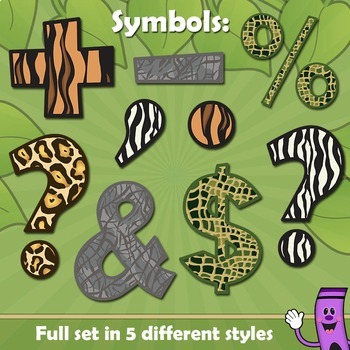 Alphabet Letters Animal Print Clip Art