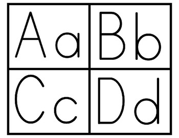 Alphabet Letters (Both Upper and Lowercase)