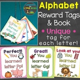Alphabet Letters Brag Tags & Book (Unique Tag for Each Let