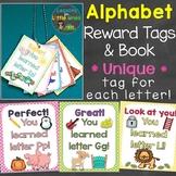 Alphabet Letters Brag Tags & Book (Unique Tag for Each Let