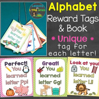 Alphabet Letters Reward Tags & Book (Unique Tag for Each Letter of the Alphabet)