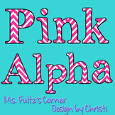 Alphabet Letters: Bright Pink Chevron