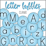 Alphabet Letters - Bubbles Clip Art