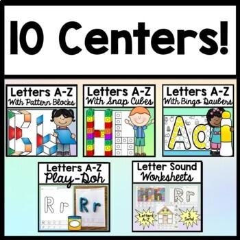 Alphabet Centers Bundle {10 Centers!} {Alphabet Activities} {Letter Activities}