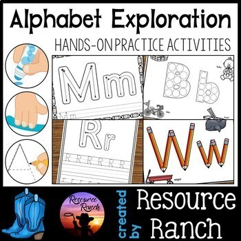 Alphabet Fine Motor Activities Bundle