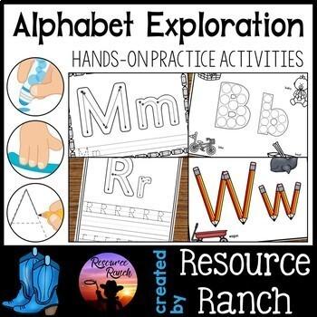 Alphabet Fine Motor Activities Bundle