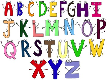 Alphabet Letters Character Clip Art -- For Personal or Commercial Use