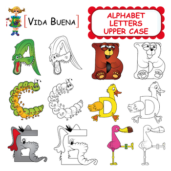 "Alphabet Letters Clip Art ""Upper Case"""
