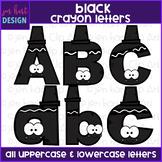 Alphabet Letters Clip Art - Black Crayon Letters {jen hart