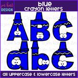 Alphabet Letters Clip Art - Blue Crayon Letters {jen hart