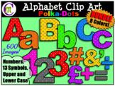 Bulletin Board Letters Clip Art Polka-dots BUNDLE 600 IMAGES!