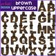 Alphabet Letters Clip Art - Brown Crayon Letters {jen hart Clip Art}