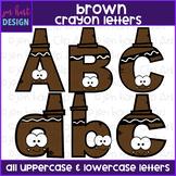 Alphabet Letters Clip Art - Brown Crayon Letters {jen hart