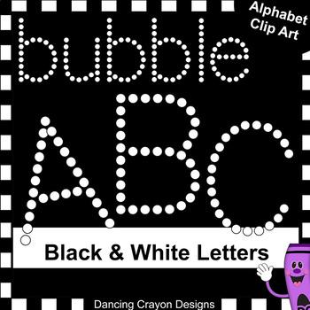 Alphabet Letters Clip Art: Bubbles | Dot Design