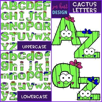 Alphabet Letters Clip Art - Cactus Letters {jen hart Clip Art}