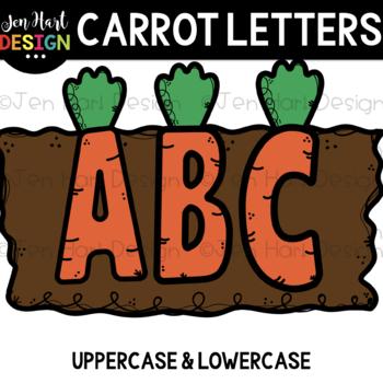 Alphabet Letters Clip Art - Carrot Letters {jen hart Clip Art}