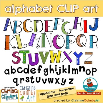 Alphabet Letters Clip Art |  Uppercase and Lowercase
