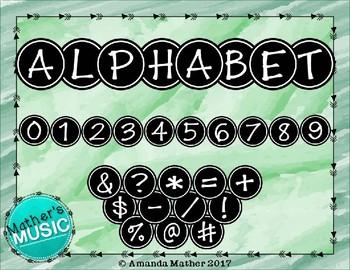 Alphabet Letters Clip Art - Circle Letters (Uppercase & Symbols)