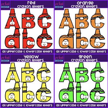 Alphabet Letters Clip Art -Crayon Letters Bundle {jen hart Clip Art}