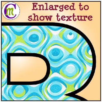 Alphabet Letters Clip Art Fun Swirl Blues