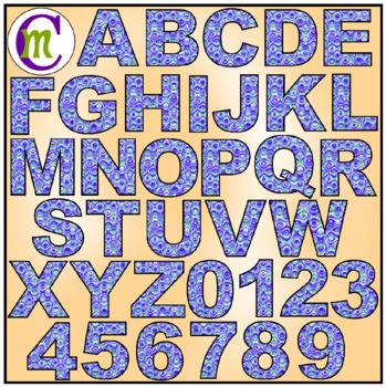 Alphabet Letters Clip Art Fun Swirl Purples
