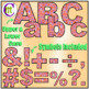 Alphabet Letters Clip Art Fun Swirl Reds